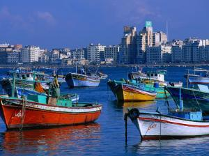 Harbour View with Fishing Boats, Alexandria, Egypt by John Elk III