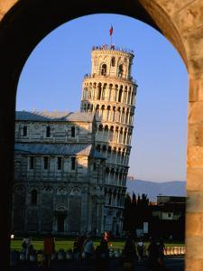Leaning Tower Framed by Arch, Pisa, Tuscany, Italy by John Elk III