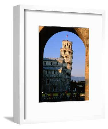 Leaning Tower Framed by Arch, Pisa, Tuscany, Italy