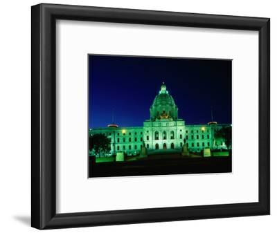 Minnesota State Capitol Lit Up at Night, Minneapolis, USA