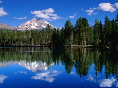 Mt. Lassen and Reflection Lake, California by John Elk III
