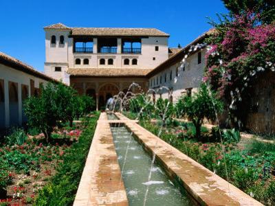 Patio de la Acequia, Generalife, Alhambra, Granada, Andalucia, Spain by John Elk III