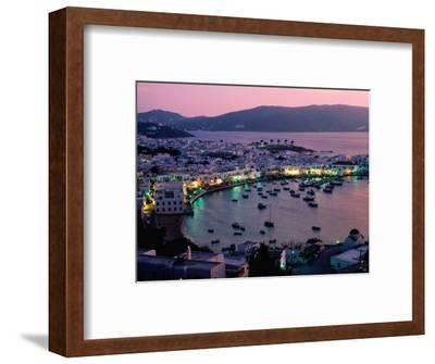 Port View at Sunset, Mykonos Island, Southern Aegean, Greece
