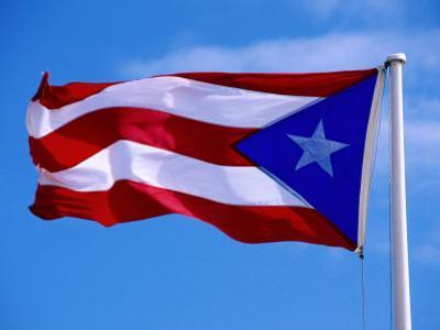 Puerto Rican Flag, San Juan, Puerto Rico by John Elk III