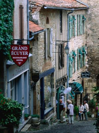 Street in Town, Cordes-Sur-Ciel, Midi-Pyrenees, France by John Elk III