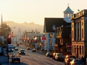 Sunrise on Main Street, Littleon, New Hampshire by John Elk III