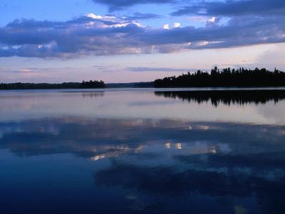 Sunset on Lake Itasca, Itasca State Park, USA by John Elk III