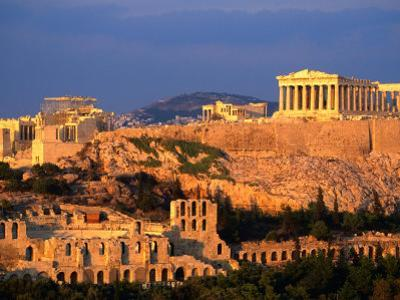 The Acropolis Taken from Phiopappos Hill, Athens, Greece