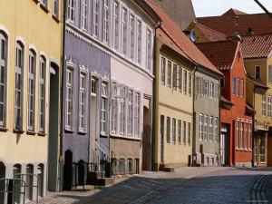 Torvet Buildings in Old Street, Haderslev, South Jutland, Denmark by John Elk III