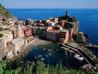 Vernazza and Harbour, Cinque Terre, Liguria, Italy