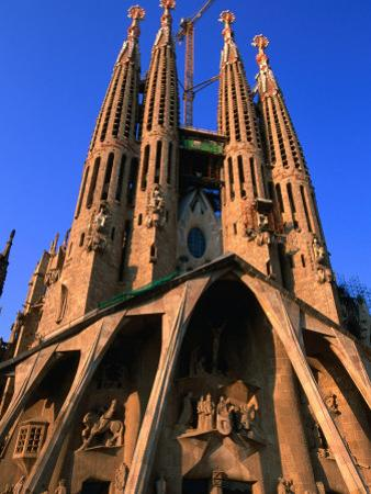 Western Facade of Gaudi's Sagrada Familia, Barcelona, Catalonia, Spain by John Elk III