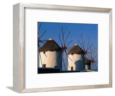 Windmills on the Island of Mykonons,Mykonos Island, Greece