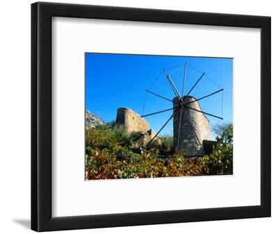 Windmills on the Lassithi Plateau, Rethymno, Crete, Greece