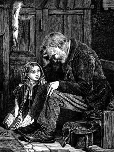 Man at Church Sitting in 'Free' Seat, London, 1872 by John Emms