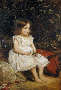 Portrait of Eveline Lees as a Child, 1875 by John Everett Millais