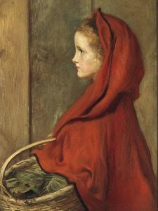 Red Riding Hood (A Portrait of Effie Millais, the artist's daughter) by John Everett Millais