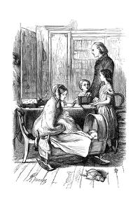 Scene from Framley Parsonage by Anthony Trollope, 1860 by John Everett Millais