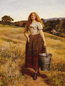 The Farmer's Daughter by John Everett Millais