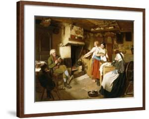 A Family in an Interior by John Faed
