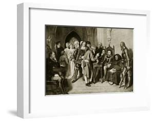 James Iv in Council before the Battle of Flodden, 1513 by John Faed