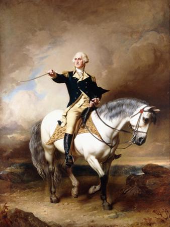 Portrait of George Washington Taking the Salute at Trenton by John Faed