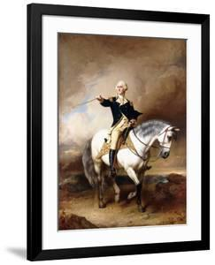 Portrait of George Washington Taking the Salute at Trenton by John Faed