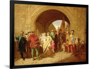 Queen Margaret's Defiance of the Scottish Parliament, 1859 by John Faed