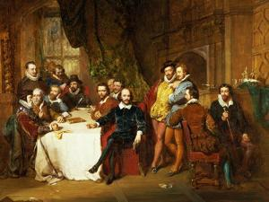 Shakespeare and His Friends at the Mermaid Tavern, 1850 by John Faed