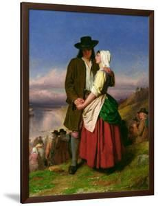 The Parting of Evangeline and Gabriel, C.1870 by John Faed