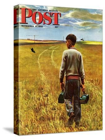 """""""Amber Waves of Grain,"""" Saturday Evening Post Cover, September 8, 1945"""