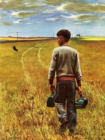 """""""Amber Waves of Grain,"""" September 8, 1945 by John Falter"""