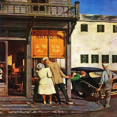 """Antique Store,"" June 28, 1947 by John Falter"