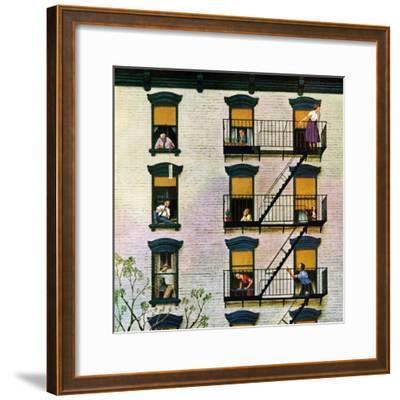 """""""Apartment Clarinetist"""", April 19, 1958"""