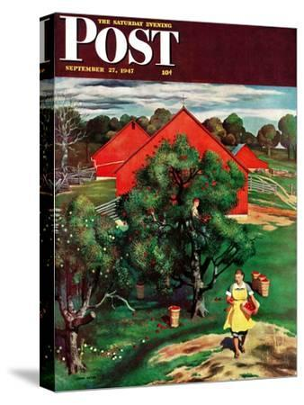 """Apple Picking Time,"" Saturday Evening Post Cover, September 27, 1947"