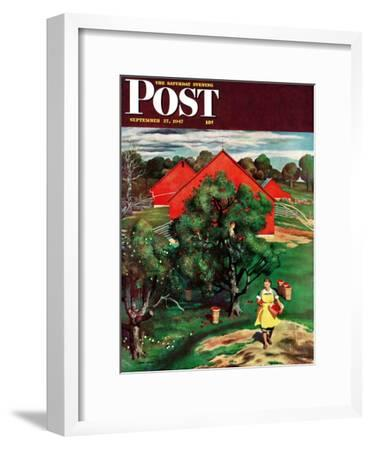 """""""Apple Picking Time,"""" Saturday Evening Post Cover, September 27, 1947"""