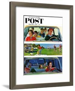 """""""Before, During & After Picnic"""" Saturday Evening Post Cover, September 5, 1959 by John Falter"""