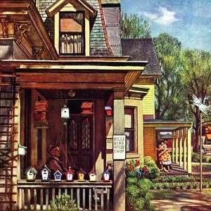 """Birdhouse Builder,"" May 8, 1948 by John Falter"