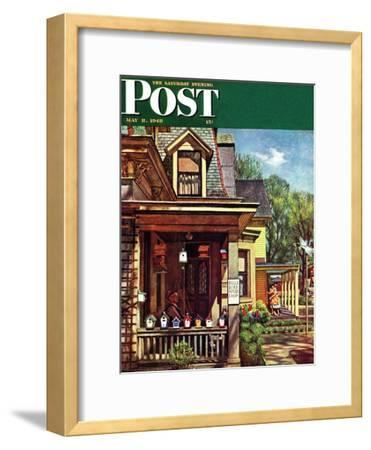 """Birdhouse Builder,"" Saturday Evening Post Cover, May 8, 1948"