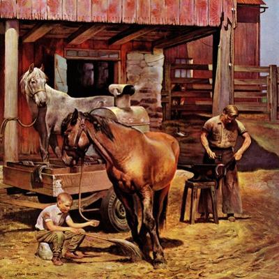 """Blacksmith,"" July 13, 1946 by John Falter"