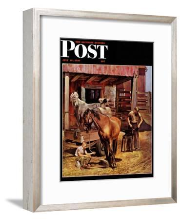 """Blacksmith,"" Saturday Evening Post Cover, July 13, 1946"