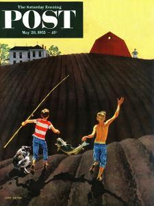 """Catfish"" Saturday Evening Post Cover, May 28, 1955 by John Falter"