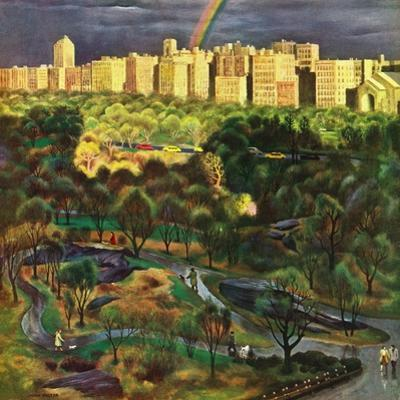 """Central Park Rainbow,"" April 30, 1949 by John Falter"