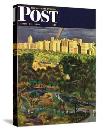 """Central Park Rainbow,"" Saturday Evening Post Cover, April 30, 1949"