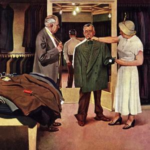 """Choosing a New Suit,"" November 20, 1948 by John Falter"