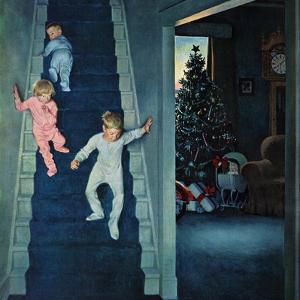"""Christmas Morning"", December 24, 1955 by John Falter"