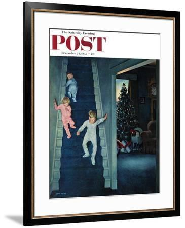 """Christmas Morning"" Saturday Evening Post Cover, December 24, 1955 by John Falter"