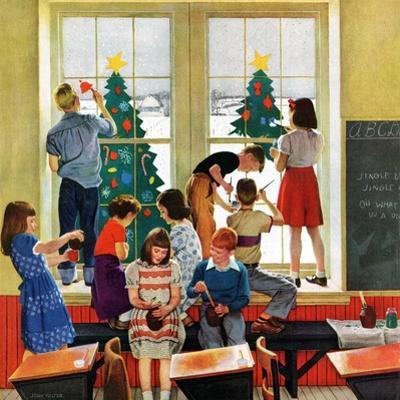 """Classroom Christmas"", December 8, 1951 by John Falter"