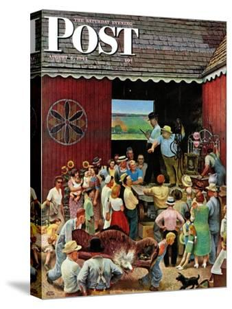 """Country Auction,"" Saturday Evening Post Cover, August 5, 1944"