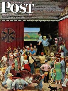 """""""Country Auction,"""" Saturday Evening Post Cover, August 5, 1944 by John Falter"""
