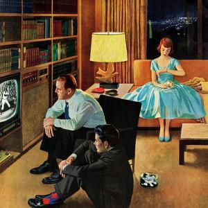 """""""Date with the Television"""", April 21, 1956 by John Falter"""